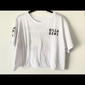 Billabong White Crop Top T-Shirt